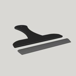 Objet 3D raclette pour salle bain, YohanFerrari