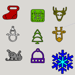 Capture d'écran (403).png Download STL file CHRISTMAS DECORATION BROCHURE • 3D printer object, YOHAN_3D