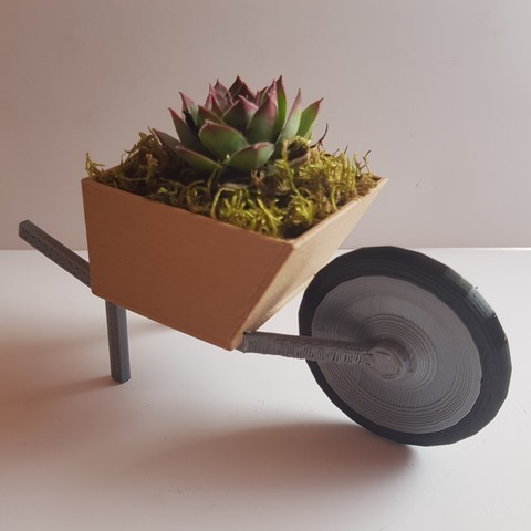 3D printer files wheelbarrow flower pot, YohanFerrari