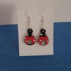 20200602_125340.jpg Download STL file beautiful ladybird earring • 3D printing template, YOHAN_3D