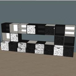 Télécharger STL gratuit multitude de modele meuble origami, YOHAN_3D