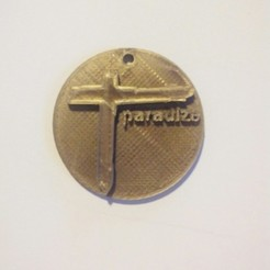 Download free 3D printer designs medallion cross from the album paradize d'Indochine, YOHAN_3D