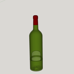 Download 3D printing designs bottle of wine flowerpot wine, YOHAN_3D