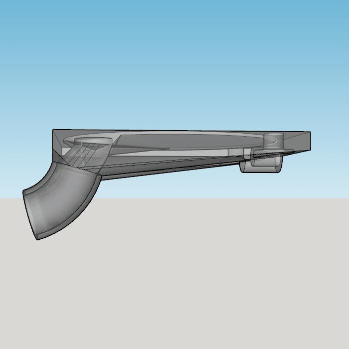 Capture d'écran (226).png Download STL file fan fan for fan pursa i3 pro c duel extruder light • 3D printer design, YOHAN_3D