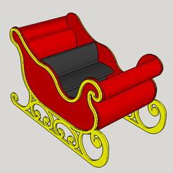 Modèle 3D le traineau du père noel, YohanFerrari