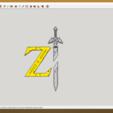 Descargar diseños 3D Logotipo de Breath of the Wild de zelda, YOHAN_3D