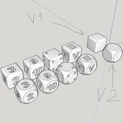 InkedCapture d'écran (299)_LI dessin.jpg Télécharger fichier STL 2 version de dé multiple (a point/ nombre/ nombre romains/vierge) • Design à imprimer en 3D, YOHAN_3D