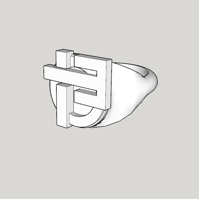 Capture d'écran (1313).png Download STL file Indochine signet ring 13 albums modell 1 full • Model to 3D print, YOHAN_3D