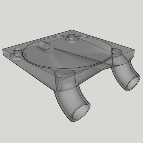 Capture d'écran (224).png Download STL file fan fan for fan pursa i3 pro c duel extruder light • 3D printer design, YOHAN_3D