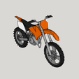 3D printing model KTM motorcycle cross country, YohanFerrari