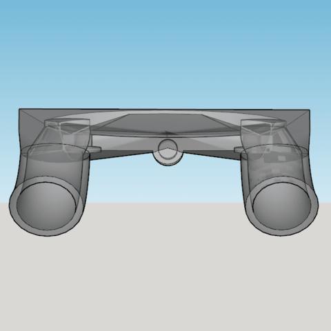 Capture d'écran (225).png Download STL file fan fan for fan pursa i3 pro c duel extruder light • 3D printer design, YOHAN_3D