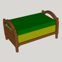 Download 3D printer files single bed for storing soap or sponge, YOHAN_3D