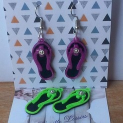 STL Flip flops earrings, YOHAN_3D