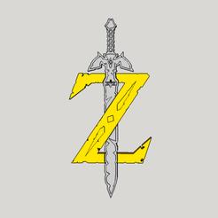 Objet 3D logo zelda Breath of the Wild, YohanFerrari
