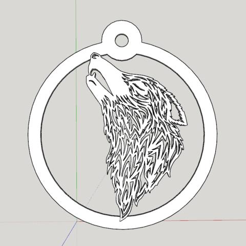 Capture d'écran (1177).png Download STL file wolf paper cut • 3D printing template, YOHAN_3D