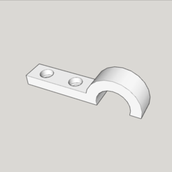 Download free 3D printing templates screwable and removable cable support replaces the clamp for the geetech pro c, YOHAN_3D