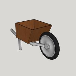 3d printer files wheelbarrow flower pot, YohanFerrari