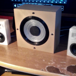 3D printer files bass printable in 3d + cabinet for bass and tweeter, YohanFerrari