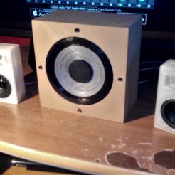 Plan 3D bass imprimable en 3d + caison pour bass et tweeter, YohanFerrari