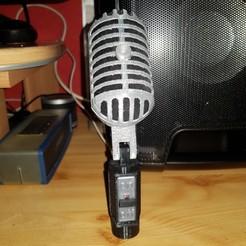 3D printer file vintage microphone, YohanFerrari