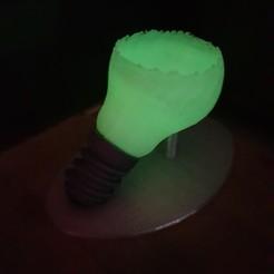modèle 3d magnifique ampoule brisée pot de fleur (oups), YohanFerrari