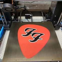 Télécharger fichier STL gratuit plectre de guitare multicolore de giant foo fighters • Design pour impression 3D, mpkottawa
