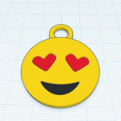 Heart Eyes Face.png Download STL file Heart Eyes • 3D printable object, Onakenh