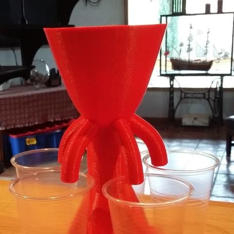 Plan 3D serveur à punch / punch dispenser, SergeResplandy