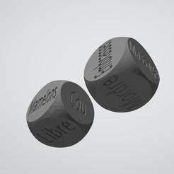 dados3.jpg Download STL file SEXY DICE - French • 3D print design, xchgre