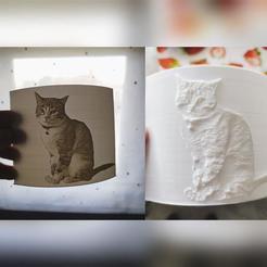 Download free 3D print files Simba - A cat Lithophane, xchgre