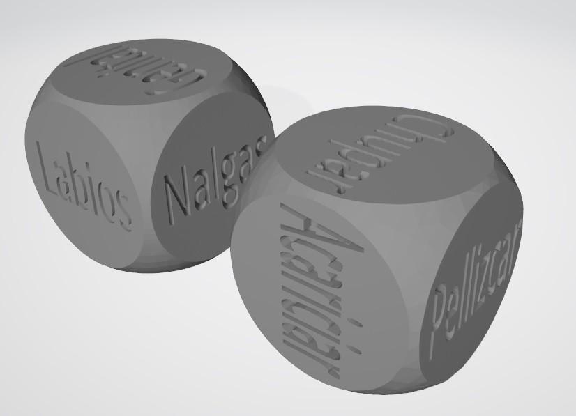 dados2.jpg Download STL file SEXY DICE - Español v2 • 3D printer template, xchgre