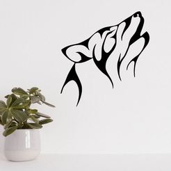 Descargar archivo 3D WOLF LINE ART VECTORIAL ESCULTURA DE PARED 2D, xchgre