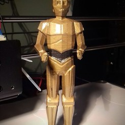 Fichier STL gratuit  Low-Poly R2D2 et C3PO - version double extrusion, STom68