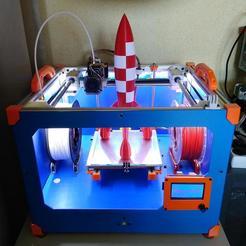 Descargar archivos 3D gratis Cohete TinTin para extrusora única, Alvaro82