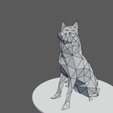 3D printer files Dog Husky low poly, Vincent6m