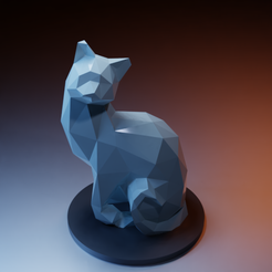 Plan imprimante 3D Profiled cat with rounded tail, Vincent6m