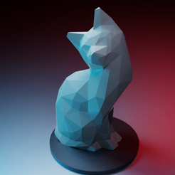 Fichier impression 3D Chat paisible lowpoly, Vincent6m