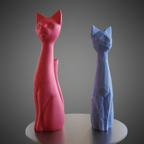 01.png Download STL file Cat cartoon style • 3D printable model, Vincent6m