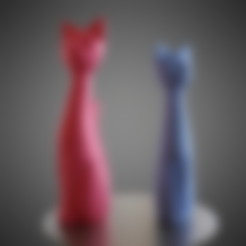 lowPoly.stl Download STL file Cat cartoon style • 3D printable model, Vincent6m