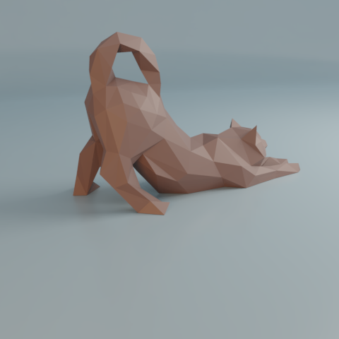 07.png Download free STL file Stretching cat low poly • Design to 3D print, Vincent6m