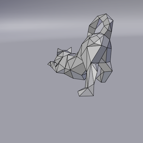 10.png Download free STL file Stretching cat low poly • Design to 3D print, Vincent6m