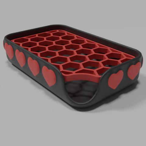 Imprimir en 3D gratis Plato de jabón 'corazones', Vincent6m