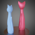 04.png Download STL file Cat cartoon style • 3D printable model, Vincent6m