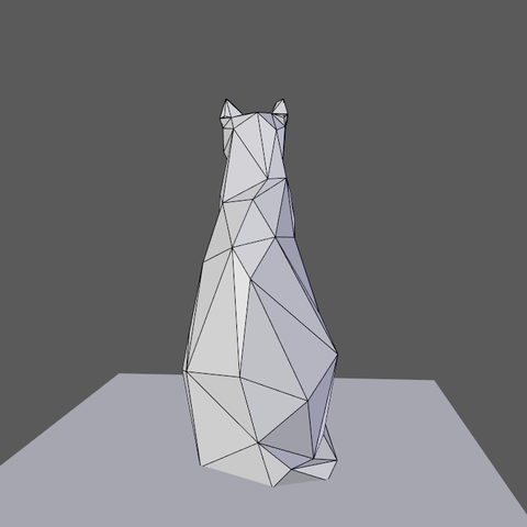0005.png Download free OBJ file Low poly sitting cat • 3D printer object, Vincent6m