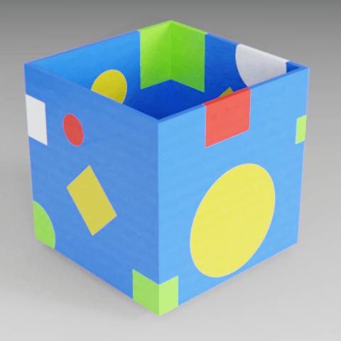 Download free 3D printer model Boring multicolor cube, Vincent6m