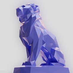 STL files Lowpoly lion, Vincent6m