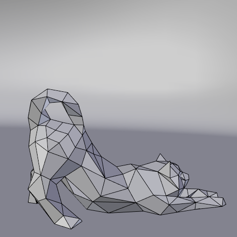 12.png Download free STL file Stretching cat low poly • Design to 3D print, Vincent6m