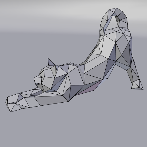 06.png Download free STL file Stretching cat low poly • Design to 3D print, Vincent6m