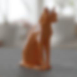 Descargar Modelos 3D para imprimir gratis CAT POLY SITTING BAJO, Vincent6m