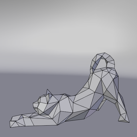 14.png Download free STL file Stretching cat low poly • Design to 3D print, Vincent6m
